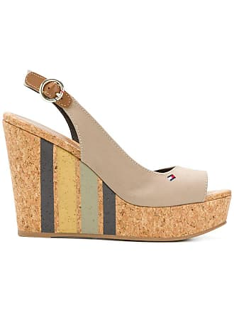 1436e8405d45 Tommy Hilfiger striped wedge sandals - Neutrals