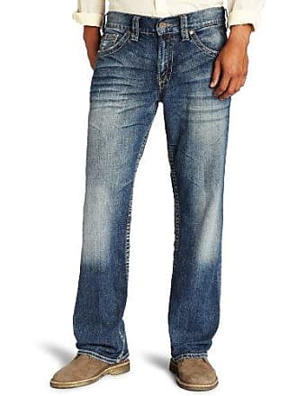 Silver Jeans Co Mens Gordie Loose Fit Straight Leg Jeans, Indigo, 40x32