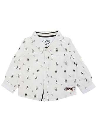 Tip Top Camisa Tip Top Bebê Menino Off White
