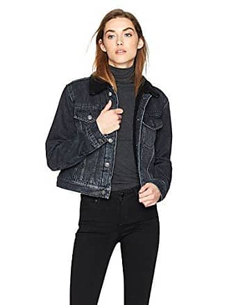 Hudson Womens Georgia Denim Jacket with Sherpa Lining, Clipper, SM