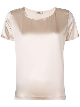 Blanca Camiseta lisa de seda - Neutro