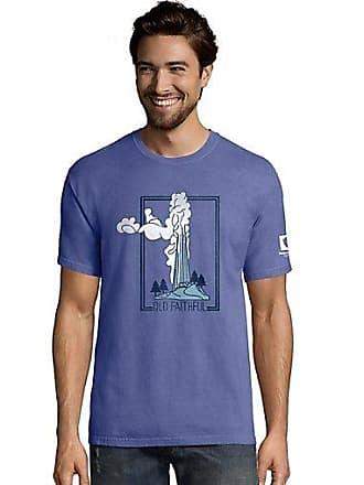 d54f4d51 Hanes Mens ComfortWash Yellowstone Postage National Park Short Sleeve Tee  Deep Forte 2XL