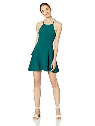 1338ad8711 Speechless Juniors Tiered Hem Halter Fit & Flare Dress, Green, ...