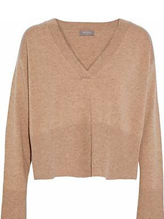 N.Peal N.peal Woman Cropped Cashmere Sweater Sand Size XL