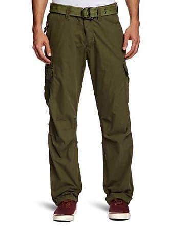 c336b70de43f3d Schott NYC CARGOUS70 Pantalon, Vert (Kaki), W34 (Taille Fabricant: 34