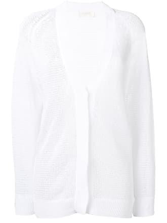 Zanone knit V-neck cardigan - White