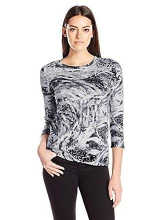 88dd4721b309b2 Rafaella Womens Plus Size Feathery Swirl Printed Top