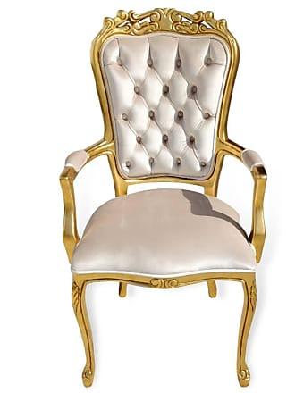 Atelier Clássico Cadeira Luis XV com Braço em Capitone com Pinturas e Tecidos Personalizáveis