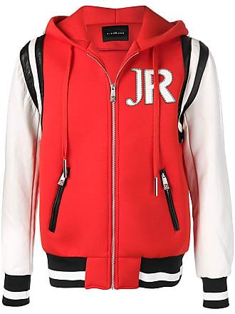 John Richmond Jaqueta bicolor com logo - Vermelho