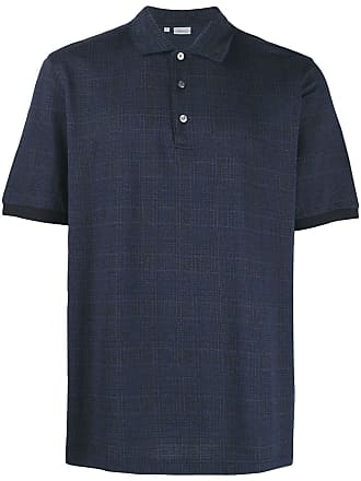 Brioni tartan pattern polo shirt - Blue