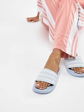 321b9bd8161a3 adidas Originals Adilette Slider Sandals In Blue