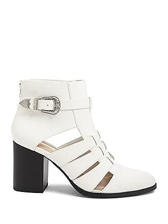 Forever 21 Forever 21 Buckled Cutout Booties White
