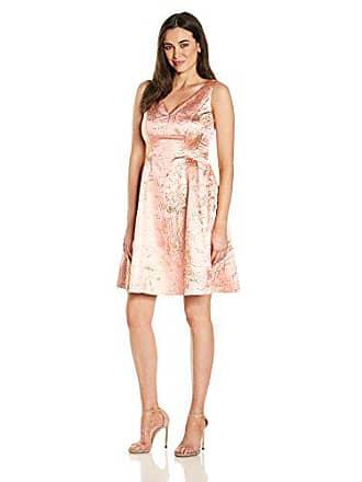 Ivanka Trump Womens Metallic Brocade Dress, Pink/Gold, 8