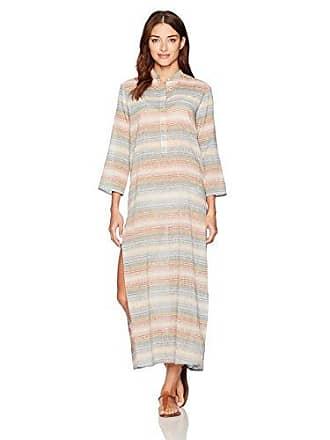 Mara Hoffman Womens Placket Front Caftan Cover Up, Sahara Stripe Multi, Medium