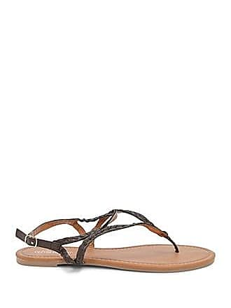 Forever 21 Forever 21 Braided Thong Sandals Brown