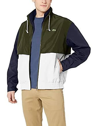 22f73cb47c5c Lacoste Mens Lightweight Colorblock Short Jacket Nylon TAFFETAS