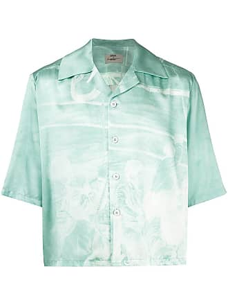 Necessity Sense Camisa cropped Vacay com modelagem ampla - Azul
