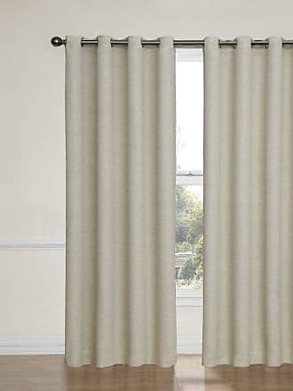 Eclipse Blackout Curtains for Bedroom-Bobbi37 x 63 Insulated Darkening Single Panel Grommet Top Window Treatment Living Room, 37 x 63, Ivory