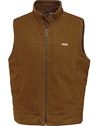 Wolverine Mens Porter Sherpa Lined Vest, Chestnut, X-Large