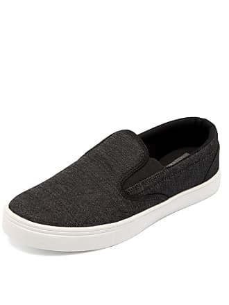 Ride Skateboard Slip On Ride Skateboard Linen Preto