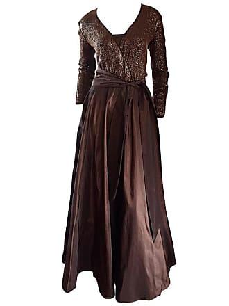 84dbea275f Pamela Dennis Gorgeous Vintage Pamela Dennis Couture Chocolate Brown Sequin  Taffeta Gown Sz 8