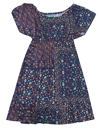 Bisi Vestido Bisi Estampado Azul-Marinho
