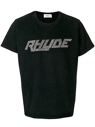 Rhude Camiseta com logo em strass - Preto