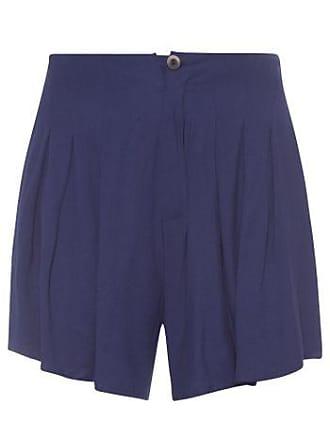 Isabella Fiorentino x OQvestir Shorts Com Pregas Isabella Fiorentino para Oqvestir - Azul