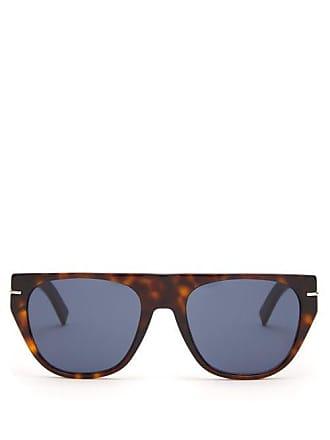 Lunettes Dior Blacktie D Frame Acetate Sunglasses - Mens - Brown