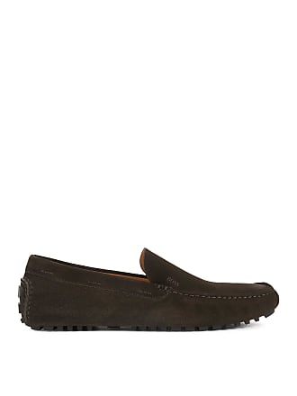 BOSS Suede Driving Loafer Leather Driver