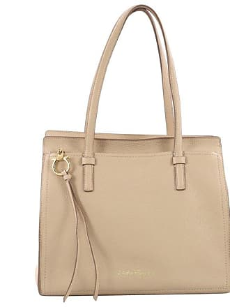 9dc3570a66ed Salvatore Ferragamo Amy Tote Pebbled Leather Medium