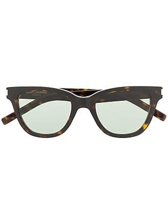 Saint Laurent Eyewear square frame sunglasses - Marrom