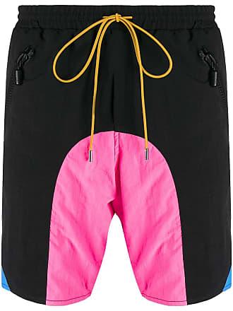 Rhude Shorts de banho com recortes contrastantes - Preto