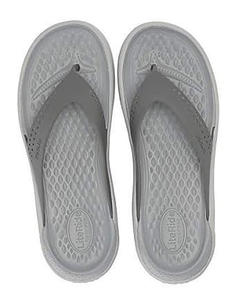 Crocs LiteRide Flip (Smoke/Pearl White) Shoes
