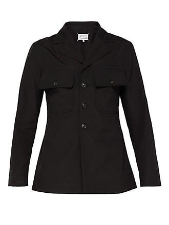 Maison Margiela Sleeve Badge Cotton Shirt - Mens - Black