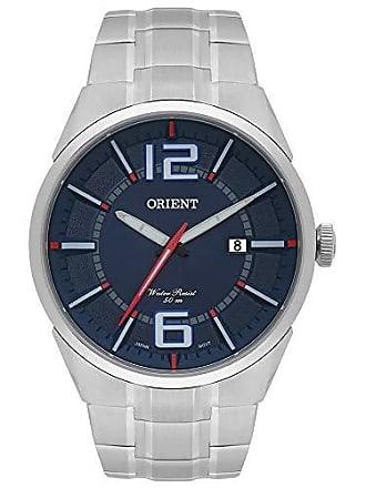 Orient Relógio Masculino Orient Prateado e Azul Aço MBSS1327 D2SX
