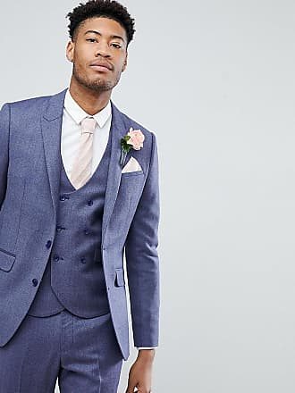 2f80795a881c5a Asos ASOS TALL WEDDING Slim Suit Jacket in Deep Blue 100% Merino Wool