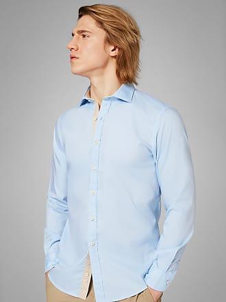 Boggi Milano regular fit sky blue shirt with closed collar