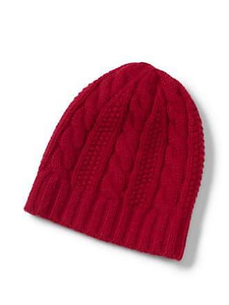Lands End Womens Cashmere Cable Knit Hat - LXL 3de9dde3adb1