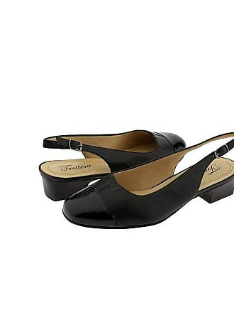 d8b7b6d974a Trotters Dea (Black Patent Black Leather) Womens 1-2 inch heel Shoes