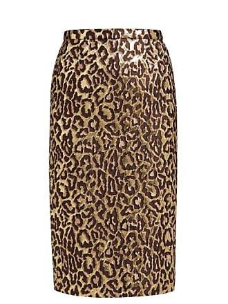 Rochas Oncidium Leopard Brocade Pencil Skirt - Womens - Leopard