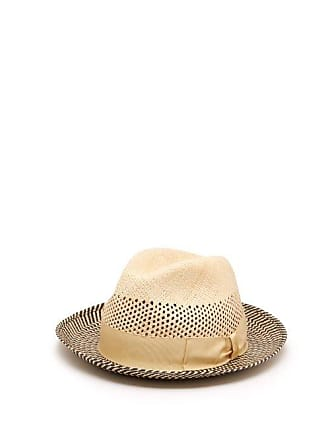 Borsalino Quito Woven Straw Panama Hat - Mens - Navy Multi