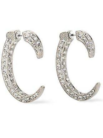 Kenneth Jay Lane Kenneth Jay Lane Woman Silver-tone Crystal Earrings Silver Size