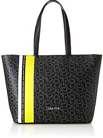 6c1933f48 Calvin Klein Monogram Ew Shopper Str, Bolsos totes Mujer, Negro (Black Mono/