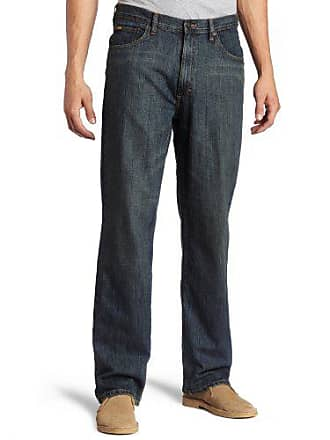 d2d3381e Lee Lee Mens Premium Select Relaxed Fit Straight Leg Jean, Round Midnight,  33W x