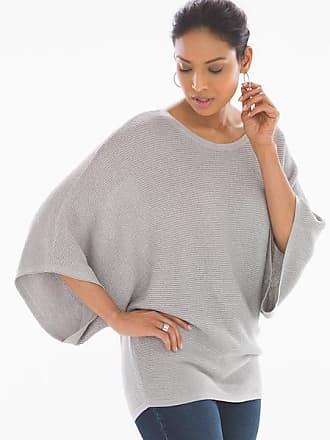 Soma Shine Cotton Blend Kimono Sleeve Sweater Grey, Size XXL
