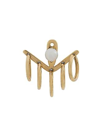 Yvonne Léon hoop pearl stud earrings - Gold