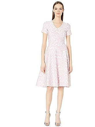 Zac Posen Knit Flower Dress (White/Pink) Womens Dress