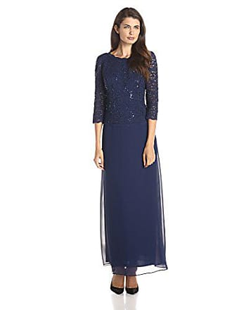d4fee1540a3 Alex Evenings Womens Long Mock Dress with Full Skirt (Petite and Regular  Sizes)