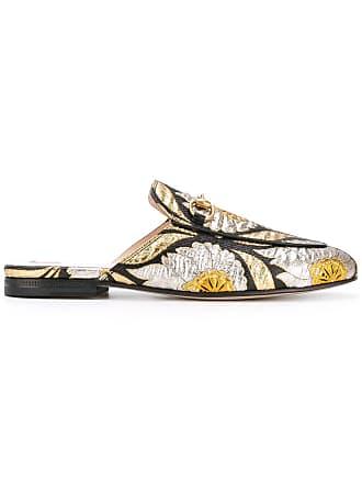 36d6345c4e2 Gucci Princetown floral jacquard mules - Black